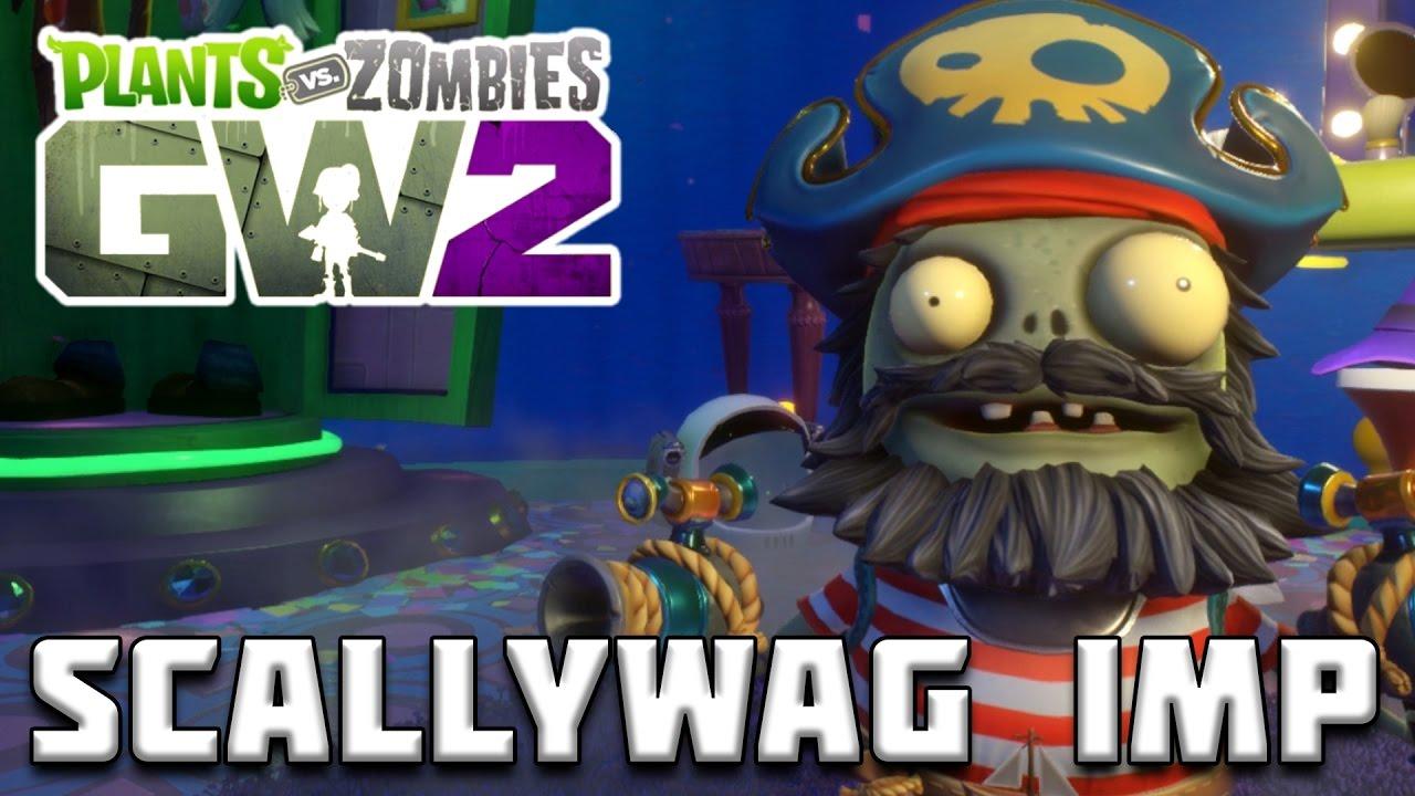 LEGENDARY SCALLYWAG IMP GAMEPLAY! Plants vs Zombies Garden ...