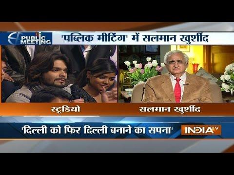 Public Meeting: Salman Khurshid Faces Voters of Delhi - India TV