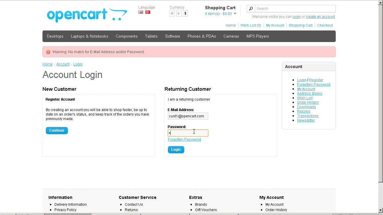 En customer account create downloader/downloader - Opencart Information Pages Customer Group Wise Attach Download To Pages