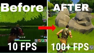 COMMENT GET BETTER FPS ET NO GLITCHES IN FORTNITE! 'TRAVAIL 2018'