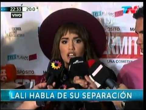 Lali habló del final con Mariano Martínez
