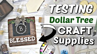 Testing NEW Dollar Tree Craft Suppplies + DIY | DIY Dollar Tree Home Decor | Krafts by Katelyn