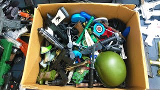 Box Full of Toys - Weapons - Bombs -  clamps