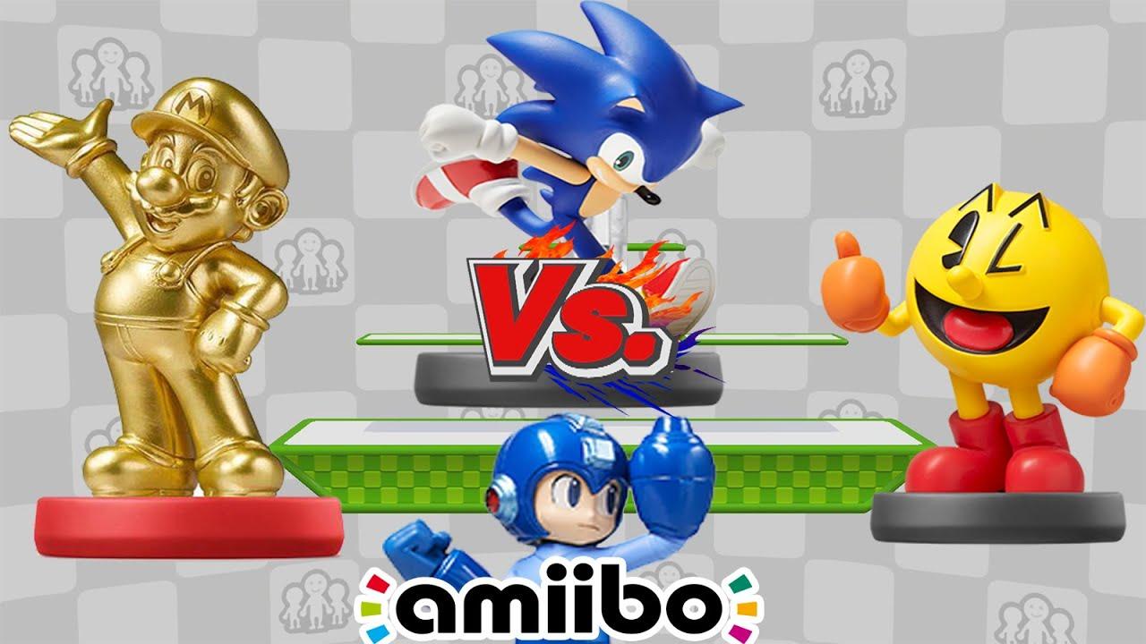 Mario Vs Sonic Vs Megaman Vs Pacman SSBWiiU: Mario ...