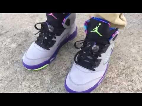 147b30a55e3409 2014 Nike Air Jordan 5 V Bel Air Fresh Prince on feet review on  cheapbestmall net
