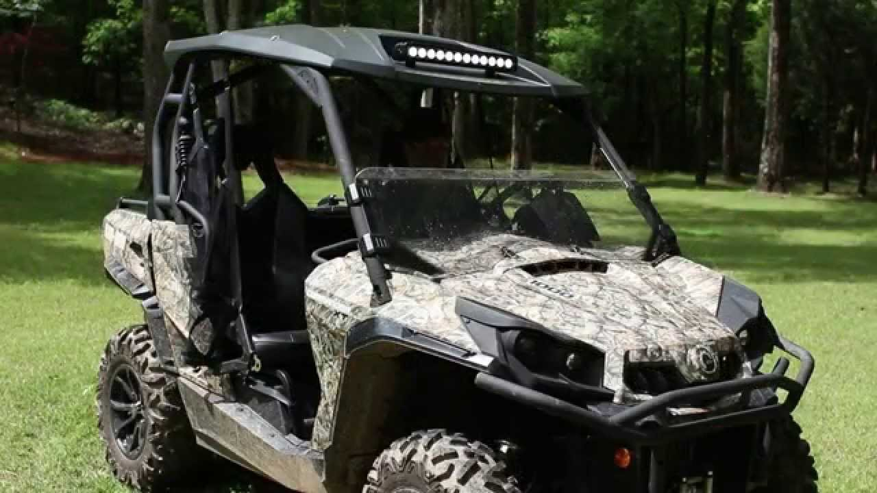 hight resolution of 20 led light bar install can am commander maverick by southern lite led youtube