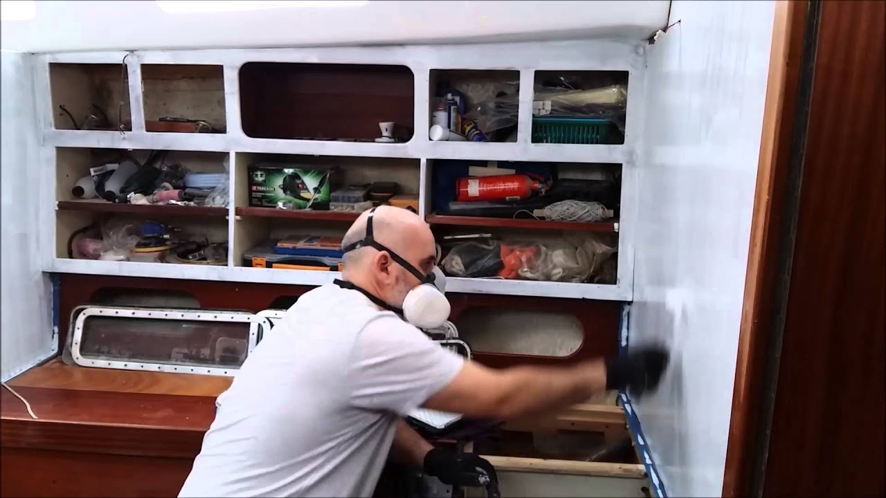 Diy boat restoration painting boat interior with primer youtube for How to restore a boat interior