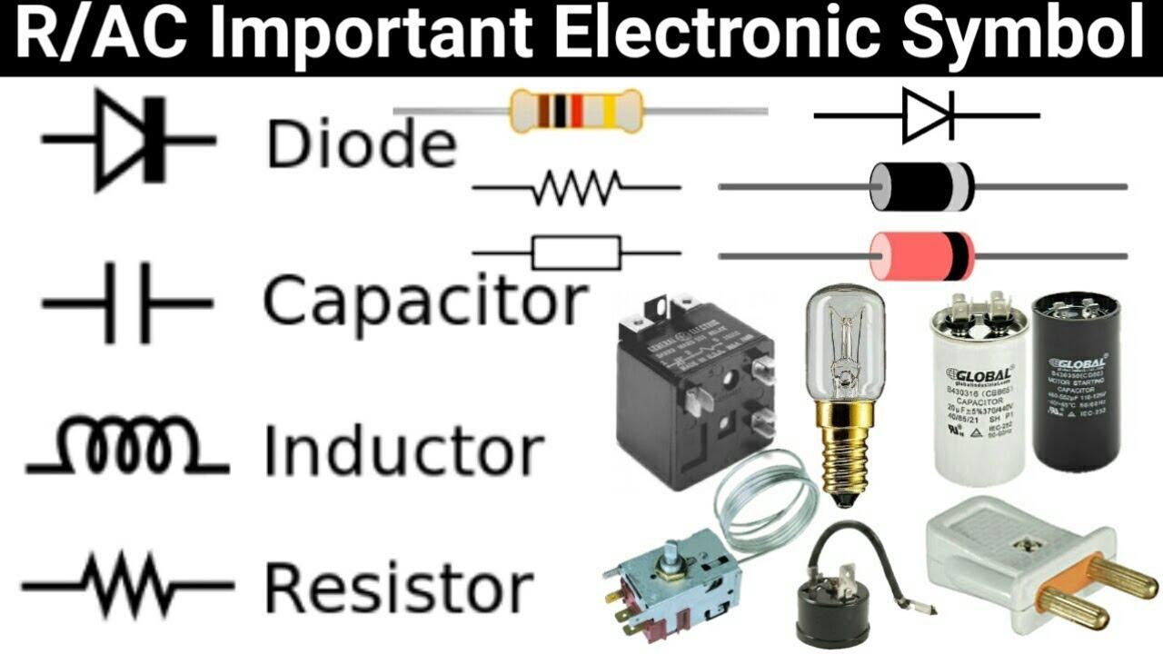 refrigeration air conditioner electric symbol capacitor lamp plug resistor diode and more symbol hvac capacitor wiring symbol [ 1280 x 720 Pixel ]