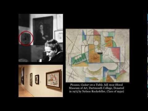 Pablo Pic Gertrude Stein And The Dartmouth Painting