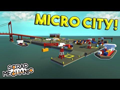 STARTING THE MICRO CITY! - Scrap Mechanic Gameplay - Micro Town EP 1