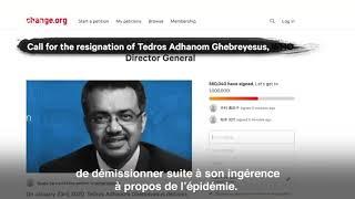 Une pétition pour la démission de DG de l'OMS