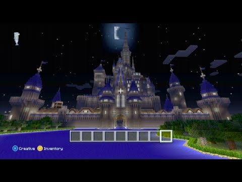 how to build a disney castle in minecraft xbox 360