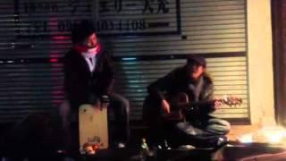 霧島市国分 ストリートライブ (カホン) ベル (ギターボーカル) エノキマ...