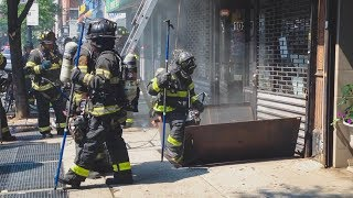 FDNY *10-75* Fire in the Walls of Greenpoint Apartment Building