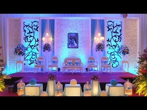 Dekorasi Pernikahan Yang Simpel Elegan Tema Warna Biru