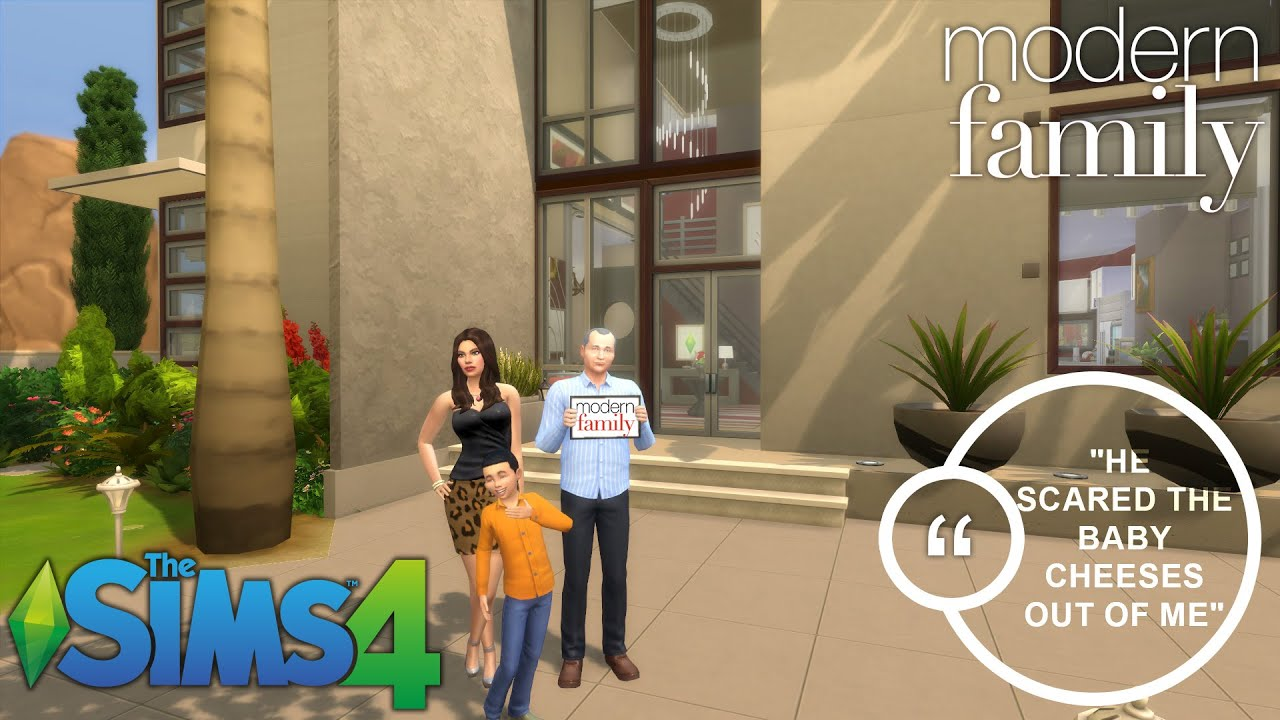 The sims 4 from show to sims modern family speed for Modern family house 90210