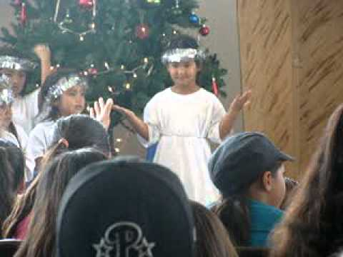 Makana performing in her very first Christmas play w/ Ark of Safety Christian Academy 2011