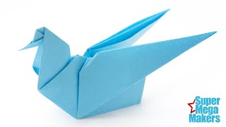 Origami Dove tutorial. Easy origami for beginners or kids