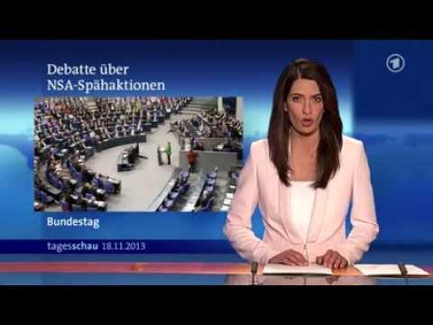 ARD Tagesschau  StopWatchingUS  Sondersitzung des Bundestages zur NSASpähaktionen  18.11.2013