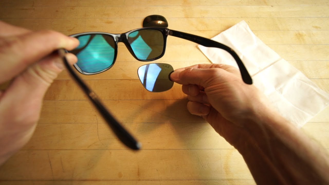 ray ban wayfarer polarized glass lens
