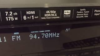 Receiver Denon Avr- X 1500 H 7.2 4 K HDR