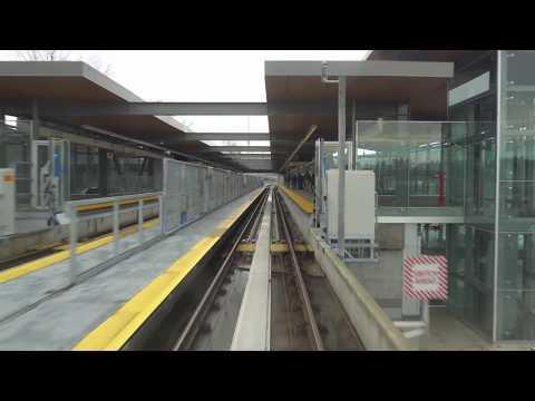 Vancouver SKYTRAIN FULL RIDE: MILLENNIUM LINE WESTBOUND (MORNING) Lafarge Lake-Douglas to VCC-Clark