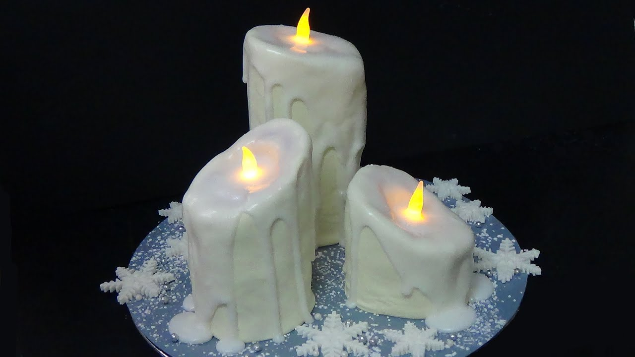 how to make candles cake YouTube