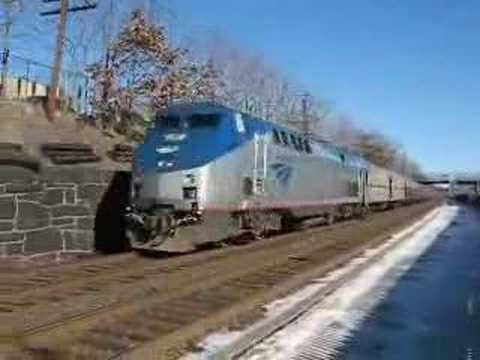 Lake Shore Limited at Newtonville, MA 2/4/07