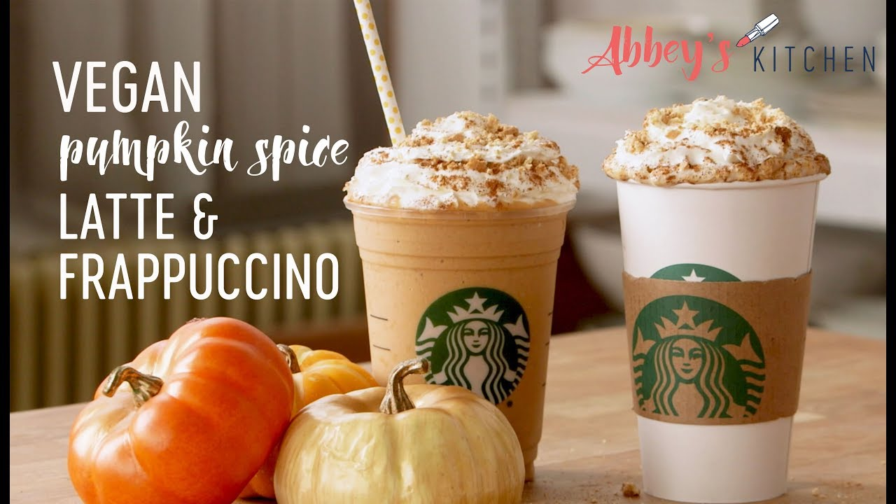 Healthy Vegan Pumpkin Spice Latte Frappuccino Starbucks Copy Cat Recipe
