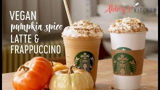 Healthy Vegan Pumpkin Spice Latte & Frappuccino | Starbucks Copy Cat Recipe