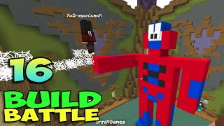ч.16 Minecraft Build Battle - Лампа с Джином, Дедушкины Часы и Спайдэрмэн