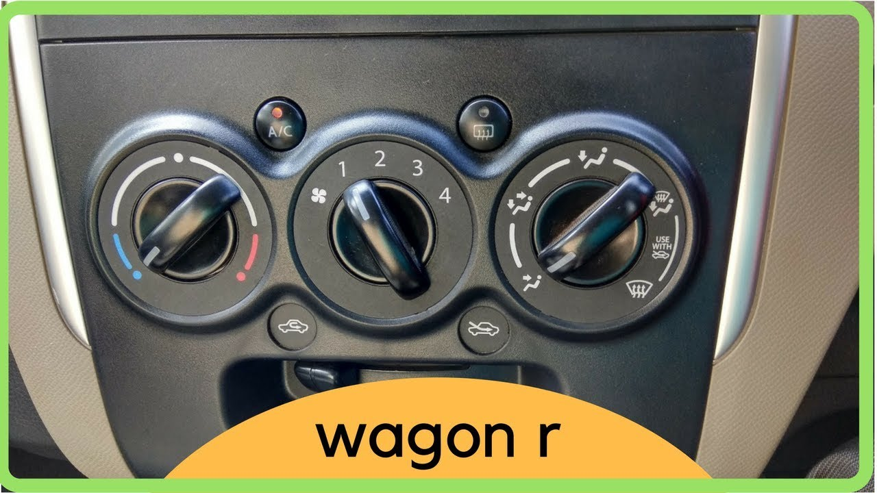 all about wagon r ac 2017 all functions explained [ 1280 x 720 Pixel ]