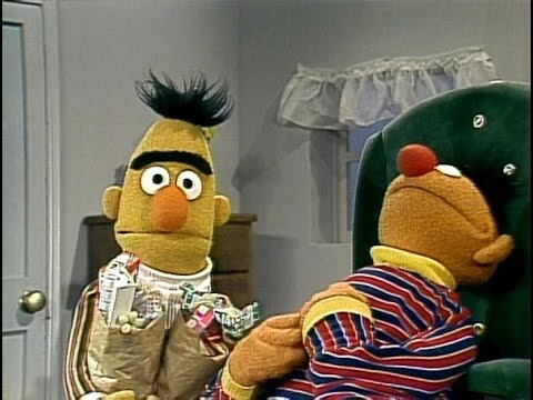 Sesame Street - Bert Needs Ernie's Help With The Groceries