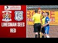 watch he video of Referee shows red card to sick assistant!