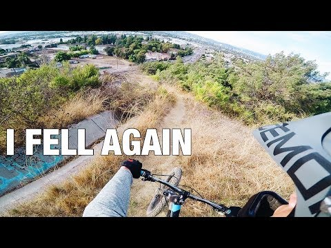 MY SECOND DAY ON MTB: I GOT LOST ON THE TRAIL *CRASH FOOTAGE*