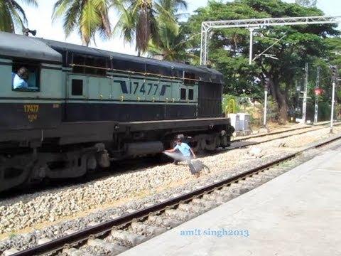 LOCO Pilot Releasing Air From Diesel Locomotive - Indian Railways