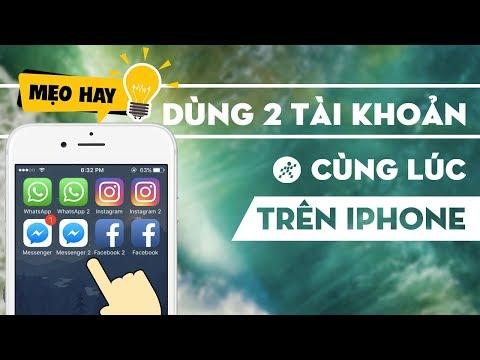 Hướng Dẫn đăng Nhập  2 Tài Khoản Cùng Lúc Trên IPhone