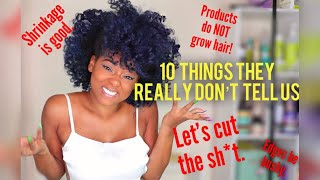 What YouTubers and Brands Won't Say | Natural Hair Facts & Tips We ALL Need To Know