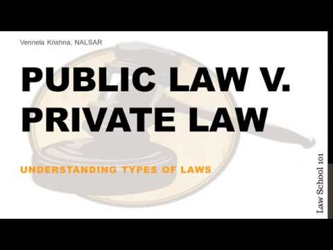 3 Private Law v Public Law |  Introductory Course to Law