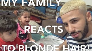 MY FAMILY REACTS TO BLONDE HAIR!!
