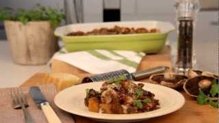 Recipe: Creamy Sweet Potato And Mushroom Bake