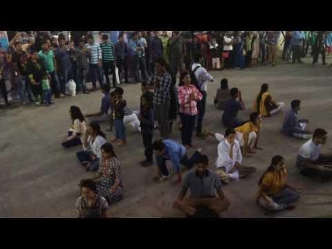 Isha Yoga Flash Mob @ Bangalore.