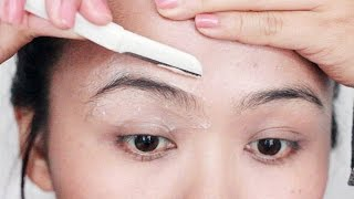 eyebrow shaping at home
