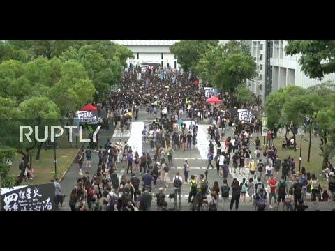: General strike hits Hong Kong