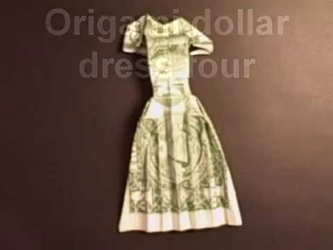 Origami Dollar Dress Four Youtube