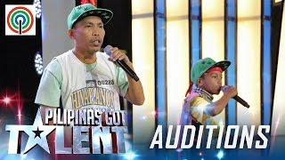 Pilipinas Got Talent Season 5 Auditions: Father And Son - Sing/Rap Duo