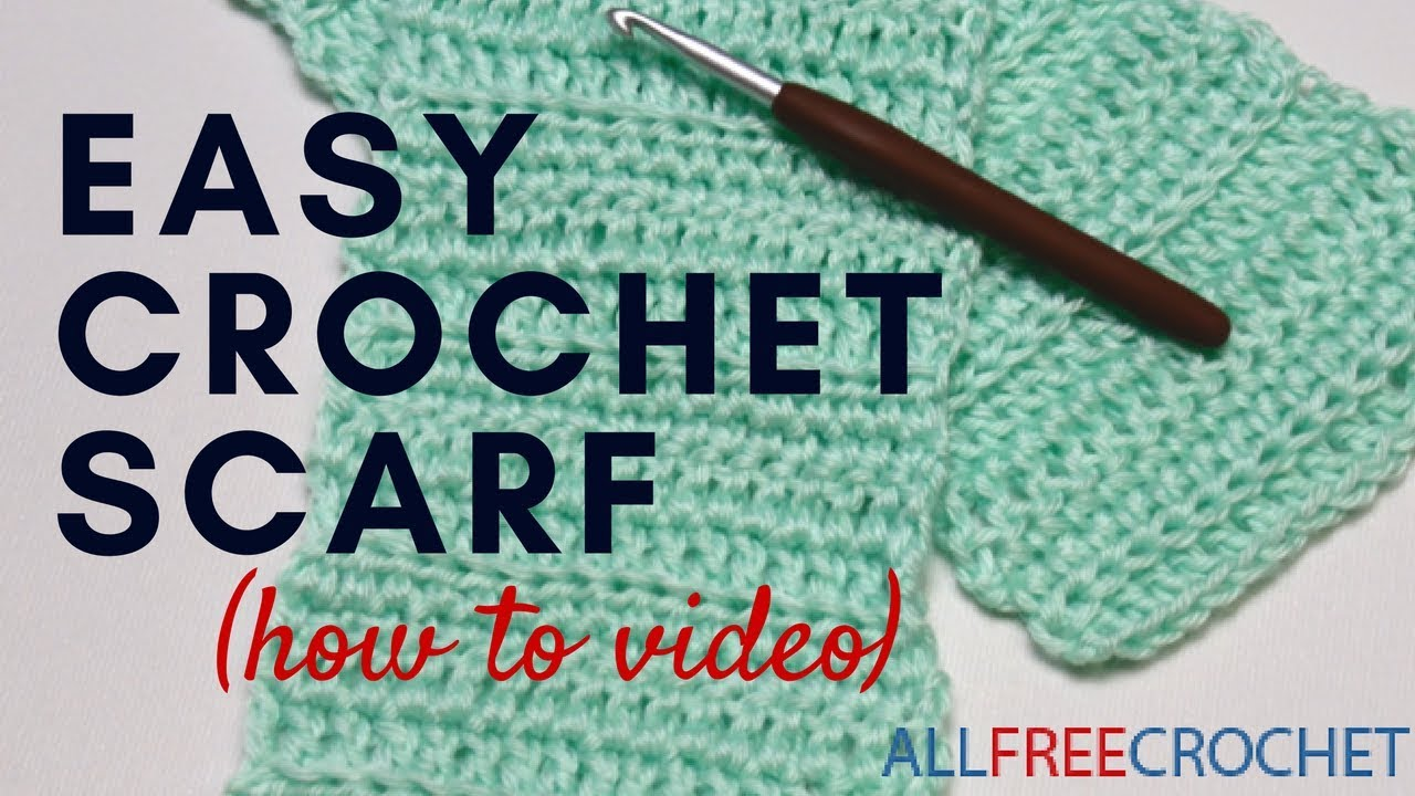 basic beginner crochet scarf youtube. Black Bedroom Furniture Sets. Home Design Ideas