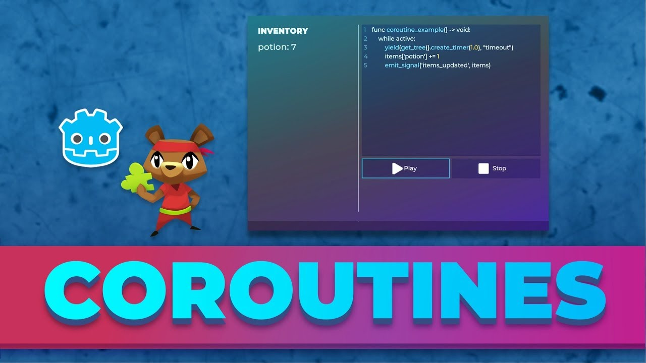 How to Use Coroutines: Godot GDscript tutorial