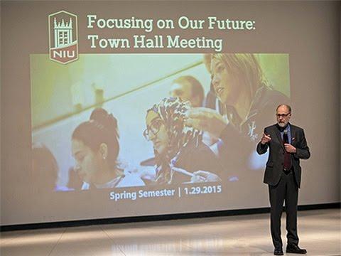 NIU Town Hall Meeting: 1 p.m.