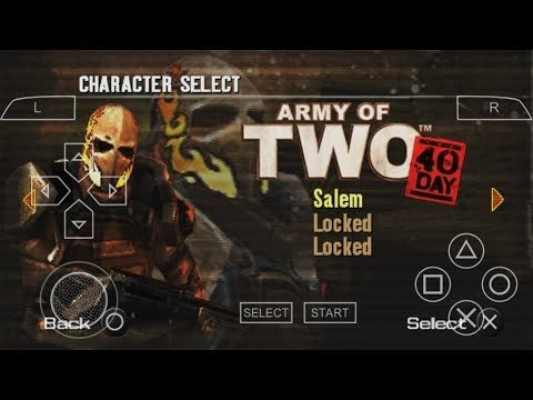 Game Android Offline Army of Two, The 40th Day (PPSSPP) Link + Cara Install - 동영상